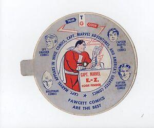 1943 Fawcett Comics CAPTAIN MARVEL E-Z Code Finder Premium!