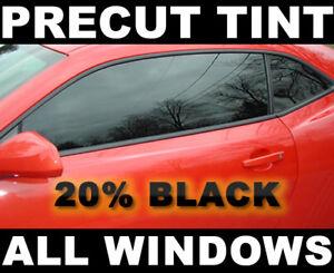 Precut Window Tint For Kia Sephia 4dr 98 02 Black 20 Vlt Film Ebay