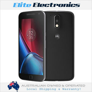 "MOTOROLA MOTO G4 PLUS BLACK 5.5"" 32GB 3GB RAM 4G/LTE UNLOCKED SMARTPHONE XT1642"