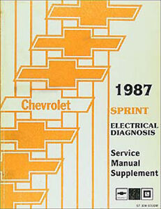 1987 Chevy Sprint Electrical Diagnosis Service Manual