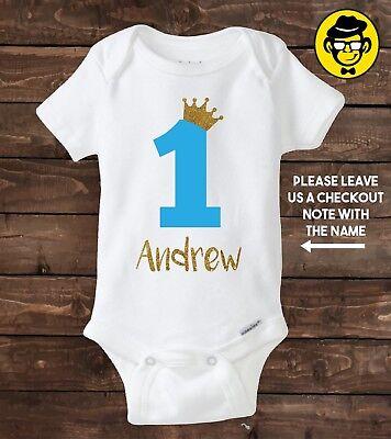 One Year Old Custom Birthday Shirt Boy 1st Birthday Shirt First Birthday Ebay