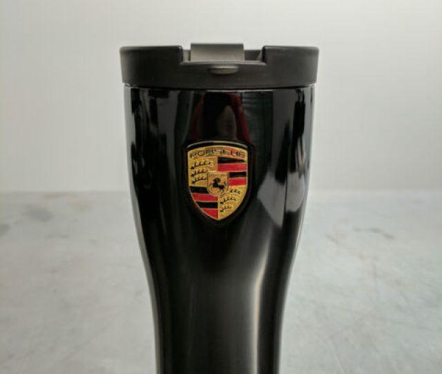 Oem Porsche Coffee Travel Mug Thermal Insulating Stainless Black Waph