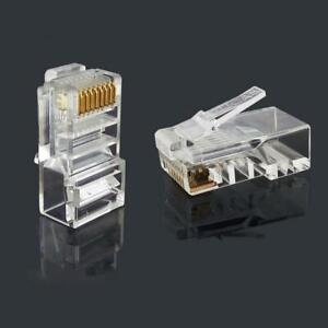 50 Stuck Cat6 Stecker Ez Rj45 Netzwerkkabel Modular X0y7