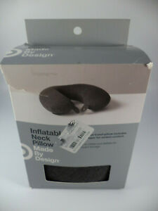details about target made by design inflatable neck pillow gray 069 06 0423 new damaged box