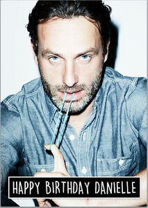Rick Grimes The Walking Dead Andrew Lincoln Birthday Card A5 Personalised Ebay