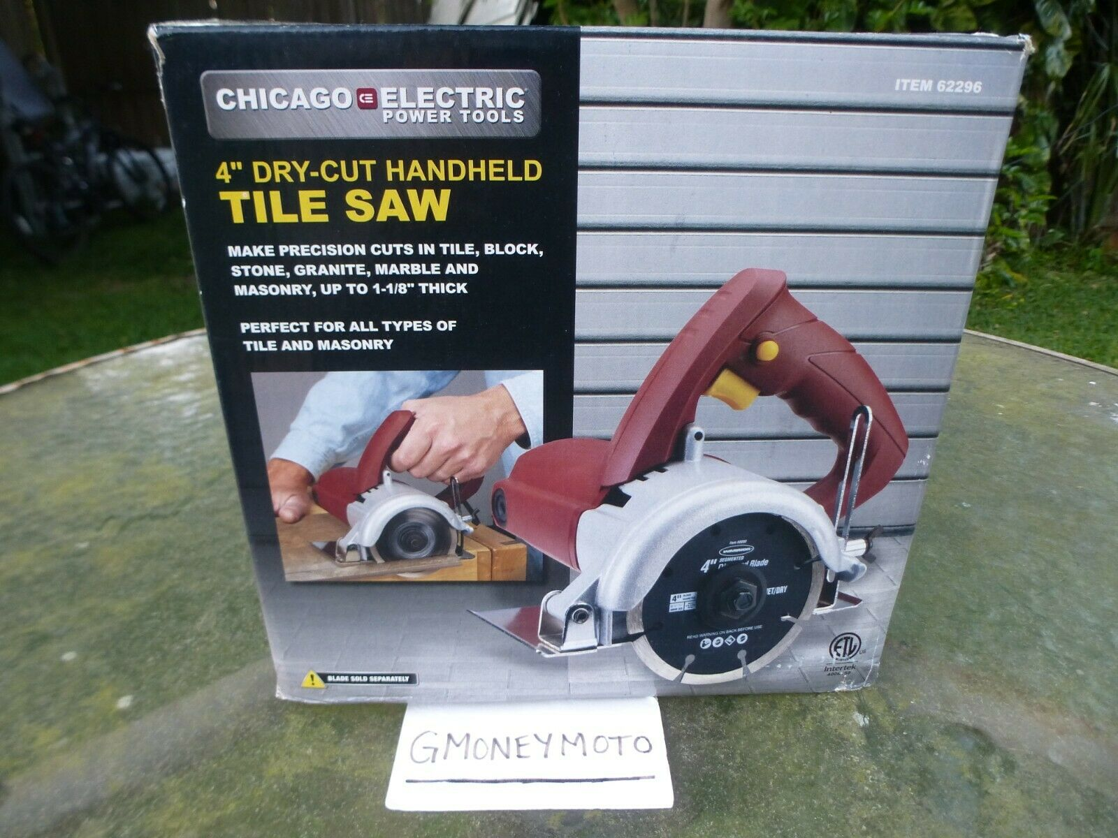 chicago electric 4 in handheld dry cut tile saw