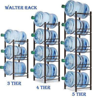 jarra de agua de 5 galones soporte rack de almacenamiento de la botella de agua 3 4 5 niveles negro ebay