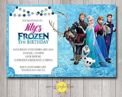 custom printable frozen birthday invitation any age elsa olaf anna ebay
