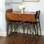 Simple Folding Table Wooden Walnut Small Space Dining Coffee Home Kitchen Prep For Sale Online Ebay