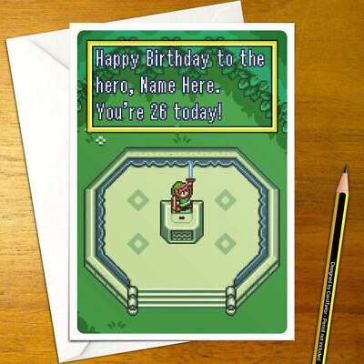Zelda A Link To The Past Personalisierte Geburtstagskarte Legende Retro Personalisierte Ebay