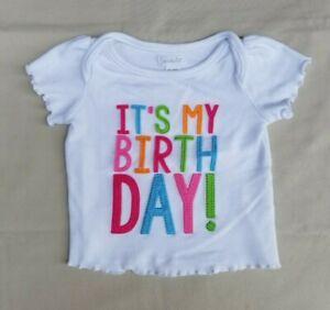 Mud Pie Girls It S My Birthday Shirt Top Size 12 18 Months 1st Birthday Ebay