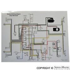 Full Color Wiring Diagram, Porsche Early 1953 356 PreA, Volt Reg