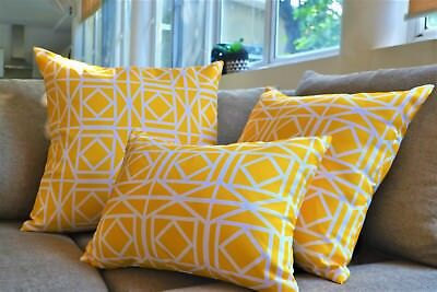 yellow waterproof outdoor cushion covers patio pillows 16 18 22 24 26