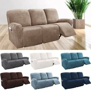 details about 2 3 seater recliner sofa cover stretchy couch slipcover sofa protector wrap new