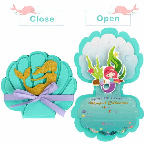 home furniture diy 12x mermaid invitations mermaid birthday party supply invitation cards for kids kisetsu system co jp