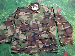 Mens Prestige Tactical Wear Woodland Camo Cold war 80's ...