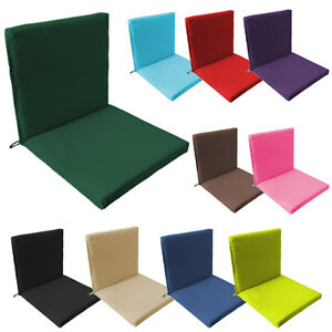 details about back seat outdoor water resistant chair pad cushion garden patio furniture