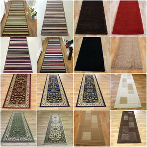 details sur long moderne traditionnel raye poilu couloir hall chemin tapis en multi couleurs