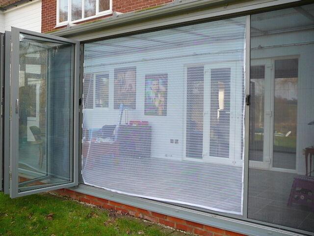 flyscreen queen wide span magnetic 244 x 210 patio bi fold door white