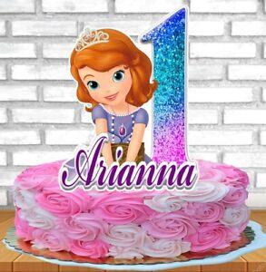 Princess Sofia The First Cake Topper Personalized Ebay