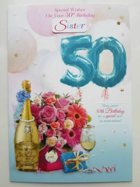 50th Birthday Card Female Daughter Daughter In Law Wife Friend Sister Mum For Sale Online Ebay