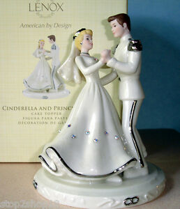 Lenox Cinderella And Prince Love Wedding CAKE TOPPER Disney Figurine     Image is loading Lenox Cinderella And Prince Love Wedding CAKE TOPPER