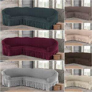 details sur housse canape d angle extensible housse de canape salon stretch sofa elastique
