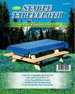 Stable Tablecloth The Water Weightable Vinyl Table Cover