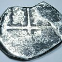 1600's Spanish Silver 4 Reales Old Antique Colonial Half Dollar Pirate Cob Coin