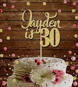 Personalised Cake Topper 18th 21st 30th 40th 50th 60th Birthday Cake Decoration Ebay