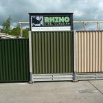 Metal Fencing Panels Plastisol Coated Steel Fence Panels Maintenance Free Ebay