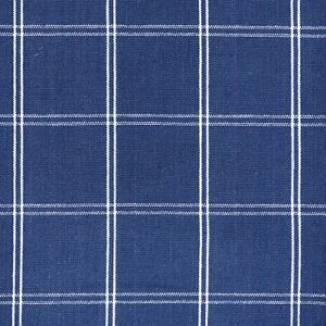 details about navy blue linen windowpane check designer curtain fabric roman blind cushion m