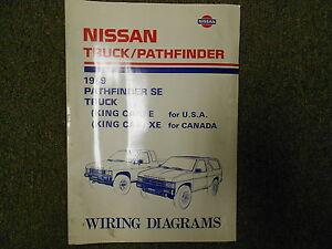 1989 Nissan Truck Pathfinder Wiring Diagram Service Repair Shop Manual FACTORY x | eBay
