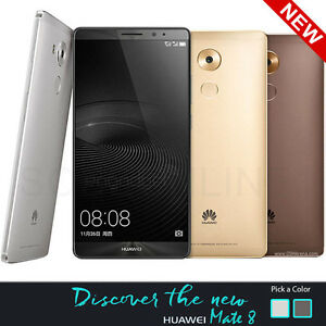 "Huawei Mate 8 NXT-L29 (FACTORY UNLOCKED) 6.0"" Full HD, 32GB - Silver Grey Gold"