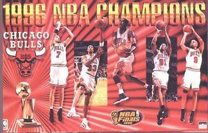 details about 1996 chicago bulls world champions original starline poster oop jordan pippen