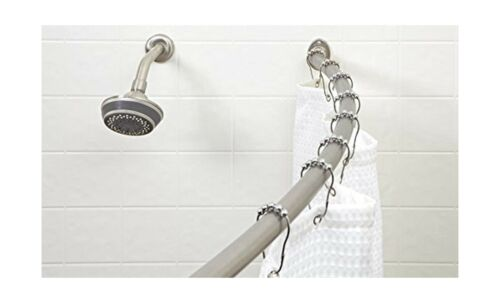 badzubehor textilien bath bliss wall mounted adjustable curved bathroom shower curtain rod 42 72 mobel wohnen elite eshop eu