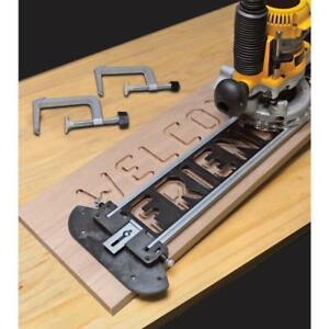 Jig Set Routers Bits Letters Numbers