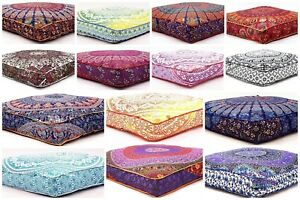 details about mandala square floor pillow cover hippie ottoman cushion cover home usage daybed