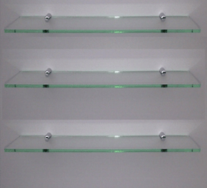 Glass effect acrylic shelf with silver fitting modern shelving large     Image is loading Glass effect acrylic shelf with silver fitting modern