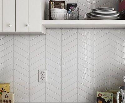 tile samples nordic snow white gloss chevron arrow metro wall tiles ebay