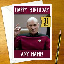 Star Trek Personalised Birthday Card A5 Generations Picard Spock Klingon Borg For Sale Online Ebay