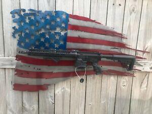 details about american flag tattered gun rack