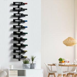 details sur porte bouteille mural etagere a vin verticale metalique artisan style acrustique