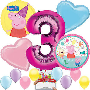 Peppa Pig Party Supplies Balloon Decoration Bundle For 3rd Birthday 648742770302 Ebay
