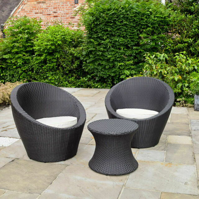 Kingfisher Rattan Table And 2 Egg Chairs Bistro Set Patio Outdoor Garden Furniture For Sale Online Ebay