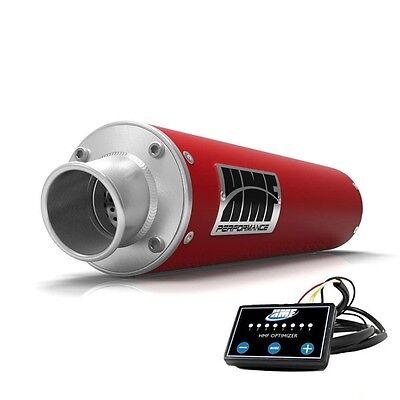 hmf performance slip on exhaust pipe red optimizer honda rancher 420 irs sra ebay