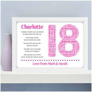 Personalised 18th 16th 21st 30th Birthday Gifts For Her Girls Daughter Sister Ebay
