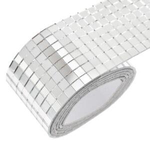 details about 100x4cm self adhesive glass mosaic sticker mini square mirror tiles sheet diy