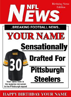 Mobel Wohnen A5 Personalised Pittsburgh Steelers Nfl American Football Birthday Card Pidoa1 Karten Einladungen Aiasavona It