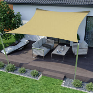 details about sun shade sail garden patio sunscreen awning canopy uv screen water resistant